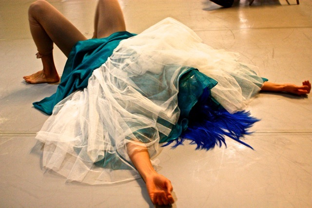 Michelle Boule in rehearsal for WONDER, photo by Wah Ming Chang