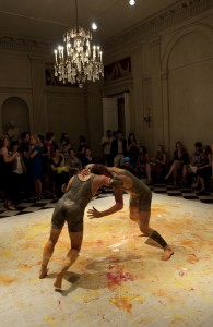 Jonathan VanDyke, Cordoned Area (v. 3), 2013. 3-hour performance created for and performed by Bradley Teal Ellis and David Rafael Botana. National Academy Museum, New York. Courtesy the artist and Scaramouche, NY
