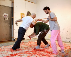 Studio visit with Jonathan Van Dyke, Bradley Teal Ellis, and David Raphael Botana. Photo: J. Louise Makary.