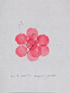 Simone Forti_Illuminations Drawings with Red Vegetable Stamp