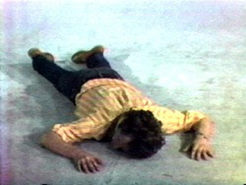 "Bruce Nauman, ""Tony Sinking into the Floor, Face Up, and Face Down"" (1973)"