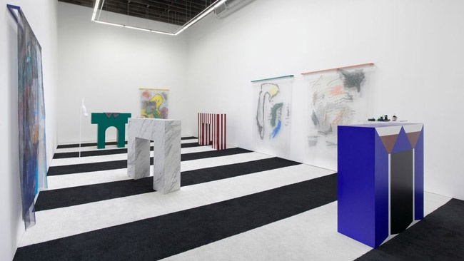 "Installation view, Strauss Bourque-LaFrance, ""No Aloha,"" Rachel Uffner Gallery, September 7 - October 19, 2014"